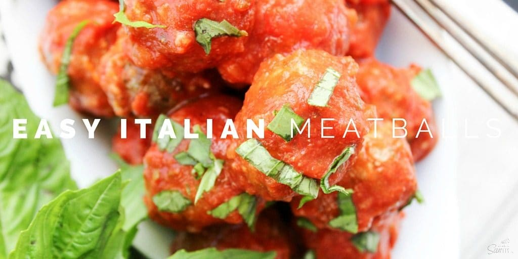 Easy Italian Meatballs is a traditional Italian meatball recipe that was handed down to my family from my grandma. They are so easy and beyond delicious.