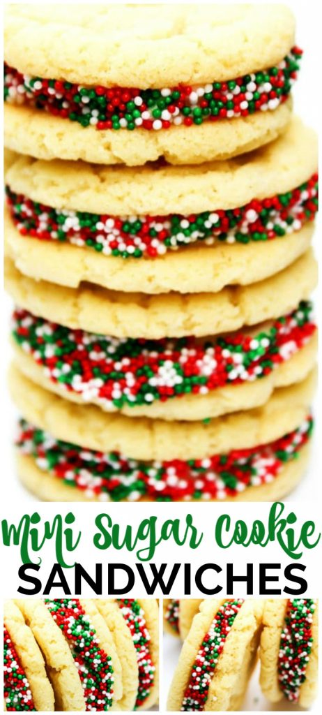 Mini Sugar Cookie Sandwiches pinterest image