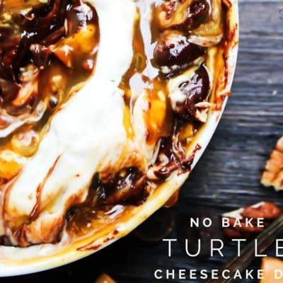 No Bake Turtle Cheesecake Dip