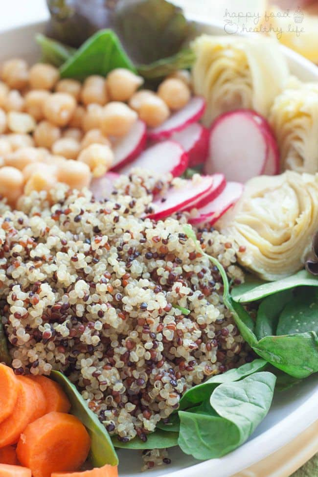 More than 25 Healthy Recipes for the New Year!   Tri Color Quinoa Salad 6WM