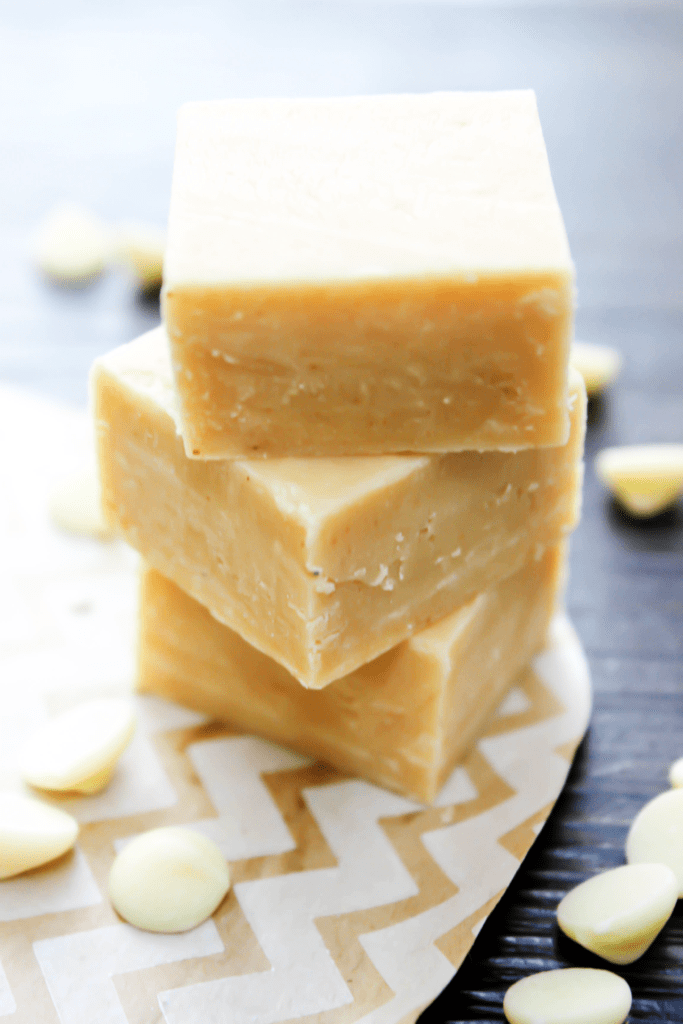 White Chocolate Peanut Butter Fudge squares