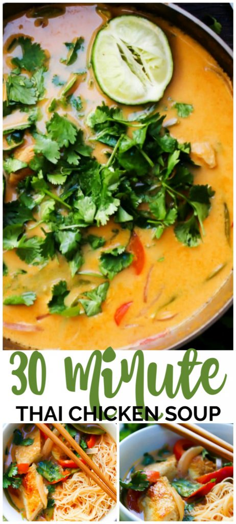 30 Minute Thai Curry Soup pinterest image