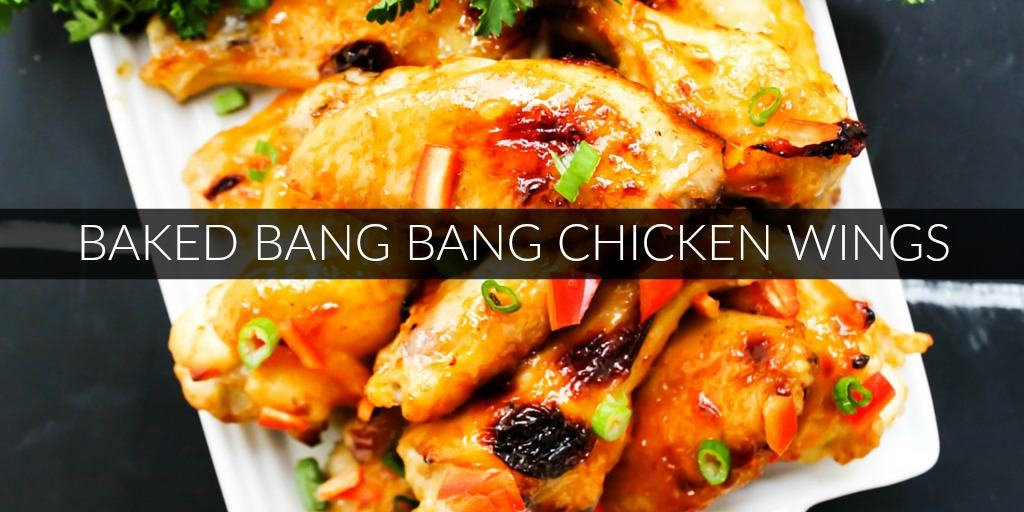 Baked Bang Bang Chicken Wings: Sweet and spicy chicken wings baked in ...