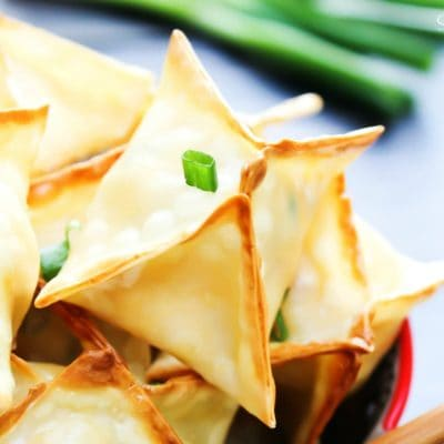Baked Chicken Wontons