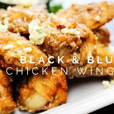 Black & Blue Chicken Wings