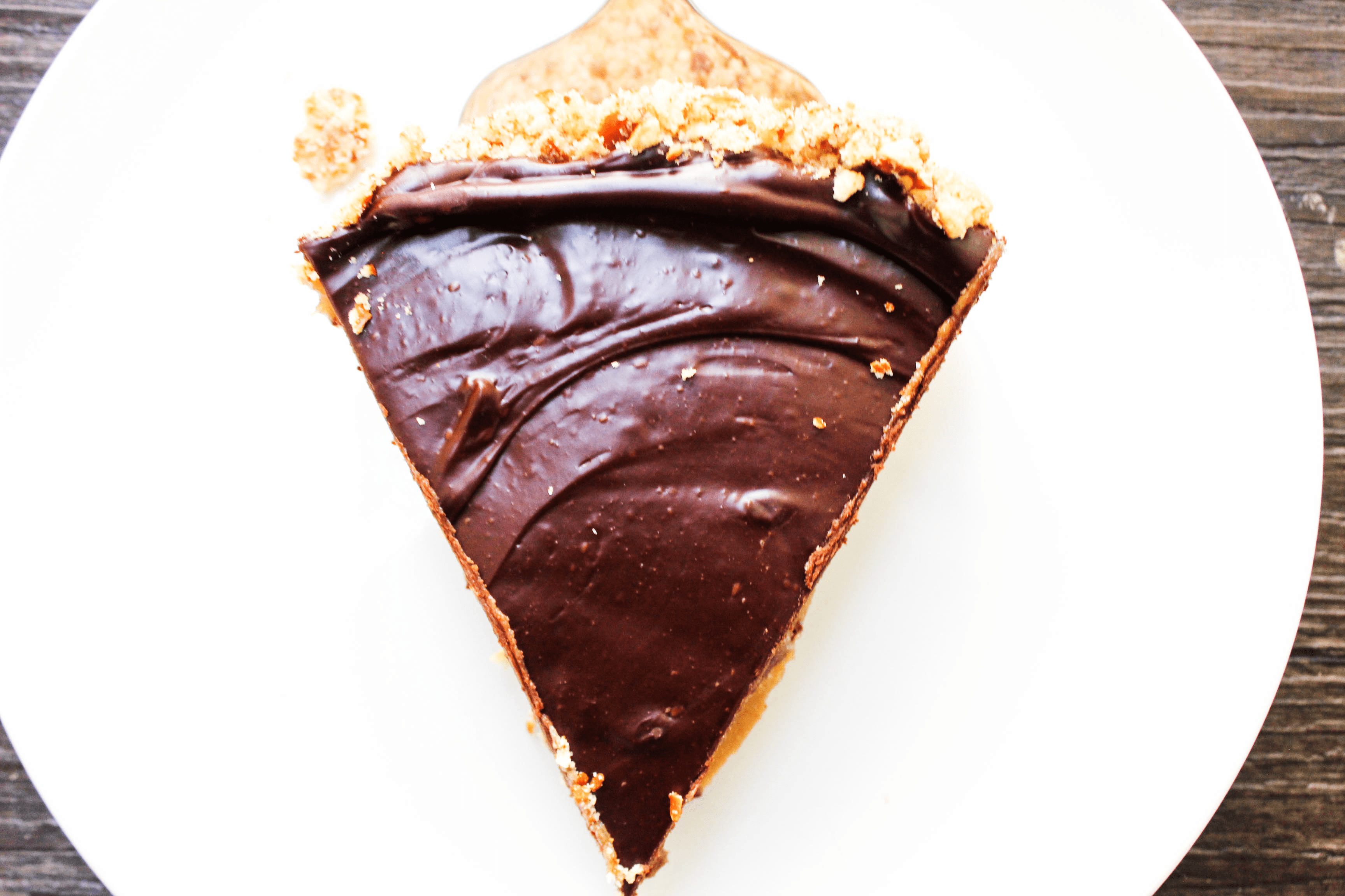 This mouthwatering Chocolate Peanut Butter Caramel Tart will have you licking your plate clean, or maybe even the entire pan for that matter.