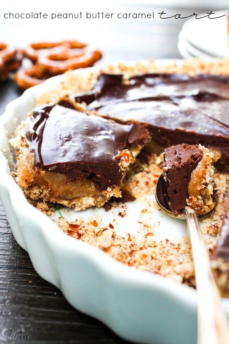 Chocolate Peanut Butter Caramel Tart & Top 10 Peanut Butter Recipes