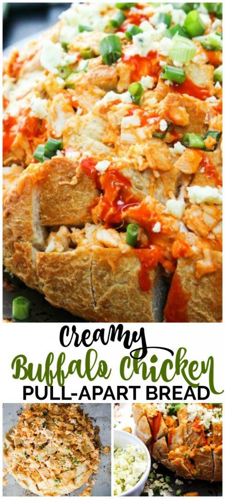 Creamy Buffalo Chicken Pull Apart Bread pinterest image