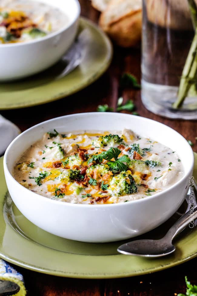 Slow Cooker Cheesy Chicken Broccoli Wild Rice Soup