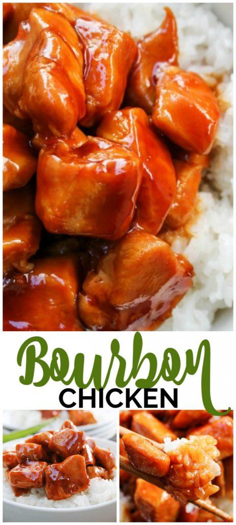 Bourbon Chicken pinterest image