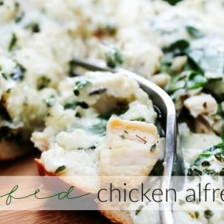 Chicken Alfredo Stuffed Bread TWITTER