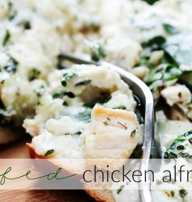 Stuffed Chicken Alfredo Bread