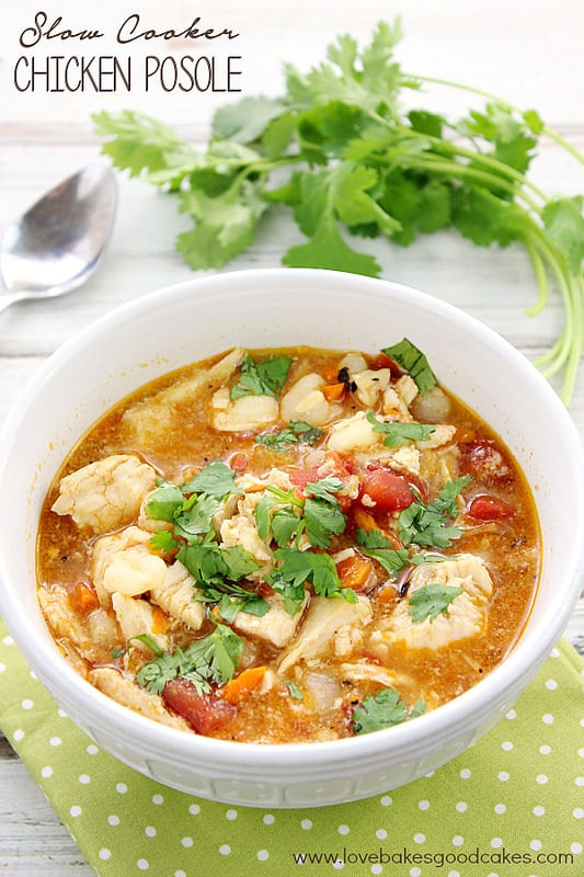 Chicken Posole - Love Bakes soup recipes