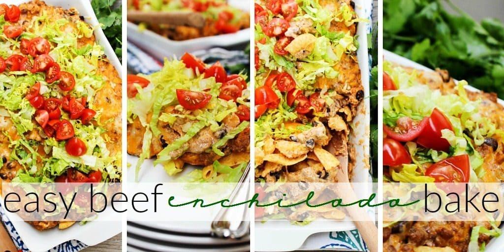 Easy Beef Enchilada Bake TWITTER