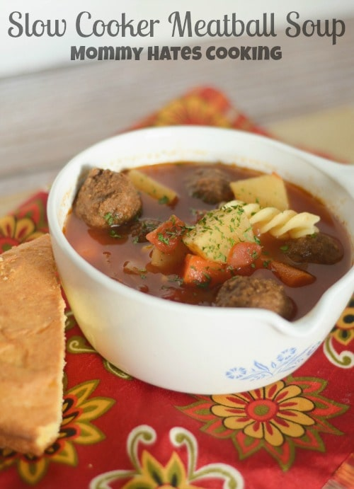 Slow Cooker Meatball - Mommy Hates soup recipes