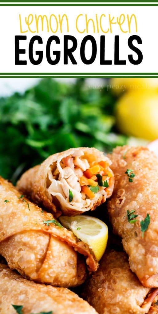 Lemon Chicken Egg Rolls