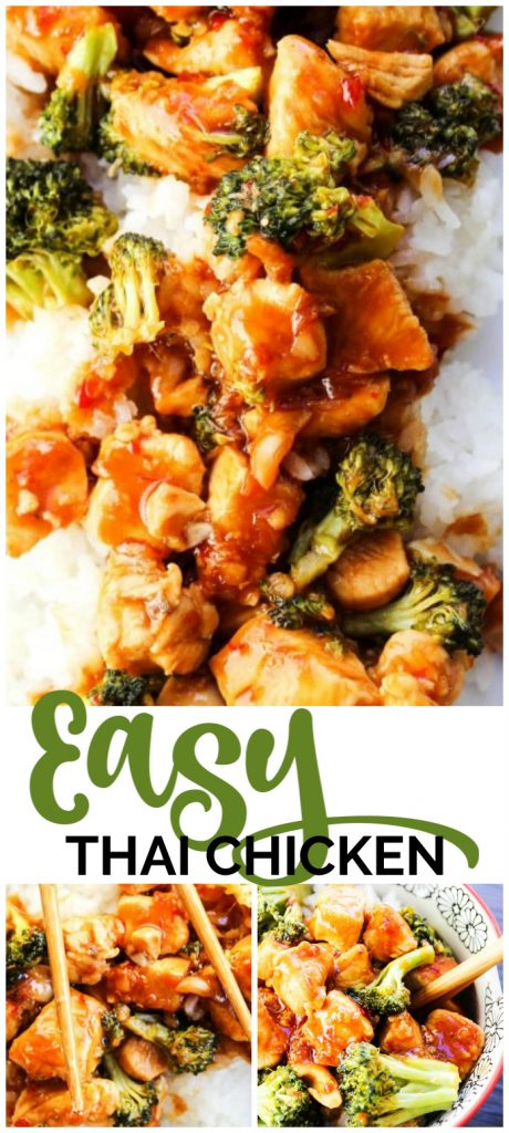 Easy Thai Chicken pinterest image
