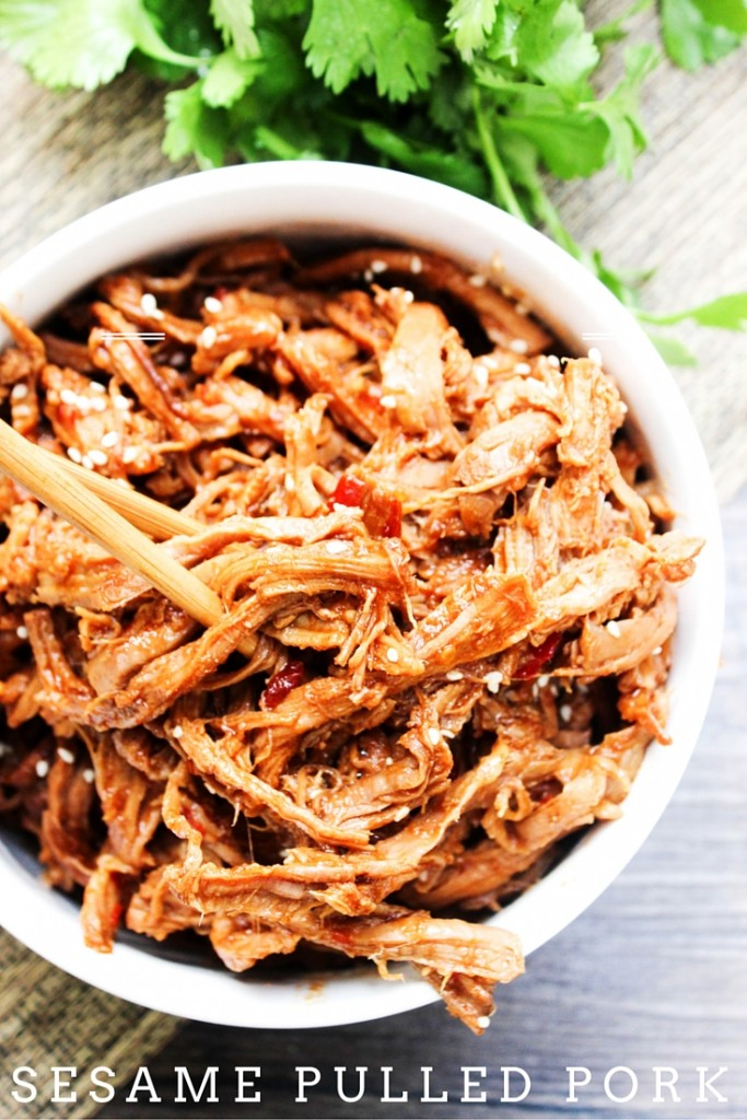 This Sesame Pulled Pork is made in your slow cooker with a sweet sesame sauce. Forget the takeout, this is bound to become a dinnertime favorite.