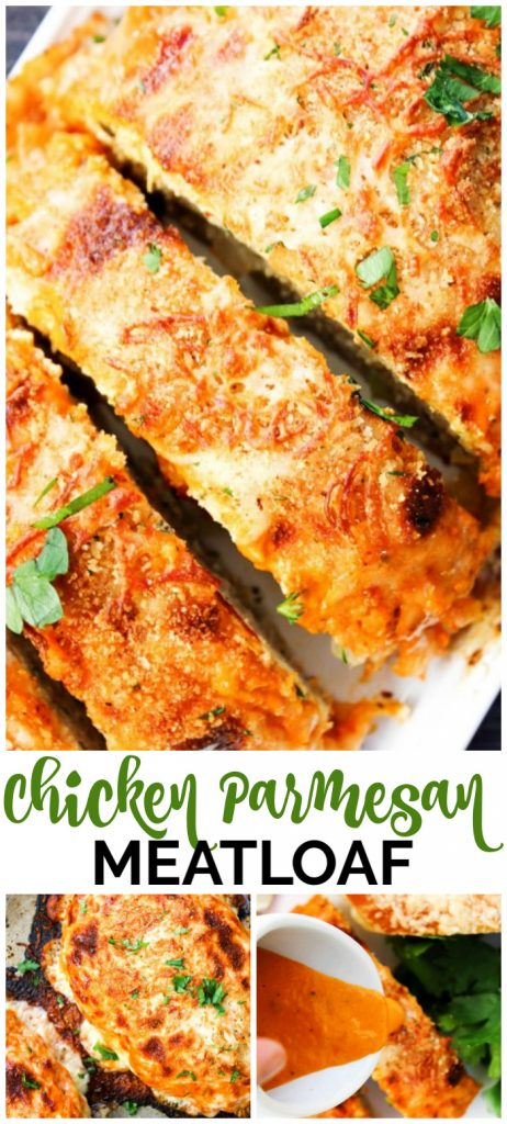 Chicken Parmesan Meatloaf pinterest image