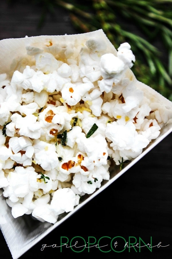 This Garlic & Herb Popcorn is a deliciously savory snack that is super simple to prepare and ready to be devoured in merely 10-minutes.