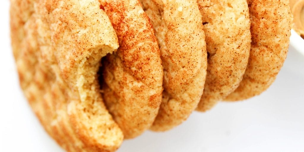Peanut Butter Snickerdoodles are soft, chewy and delicious. They are two of my favorite cookies ever combined into one addictive treat.