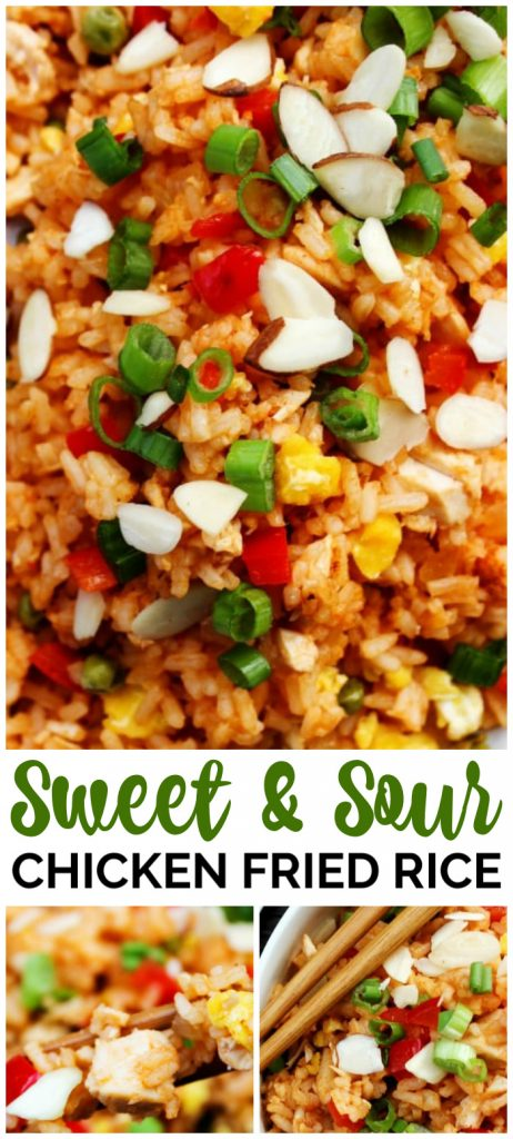Sweet & Sour Chicken Fried Rice pinterest image