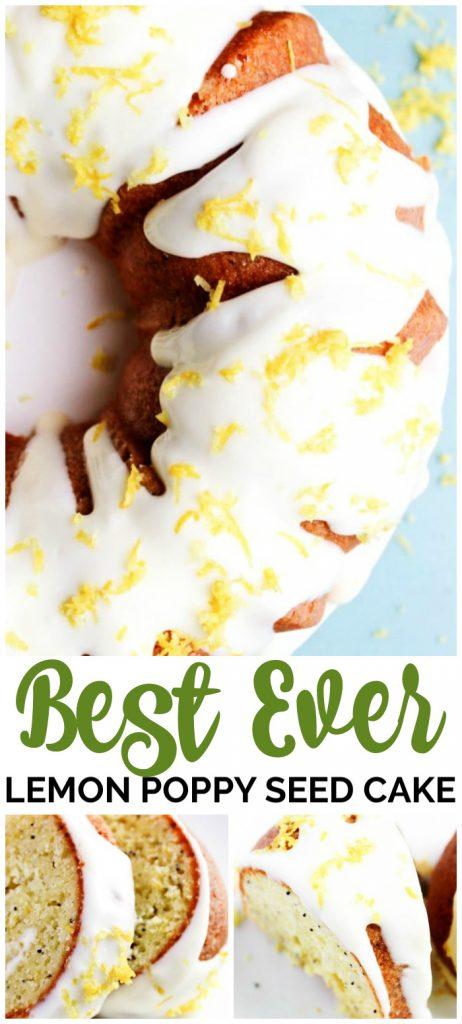 Best Ever Lemon Poppy Seed Cake pinterest image