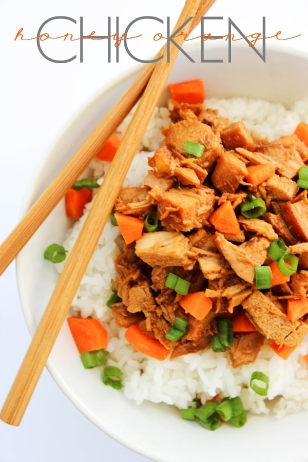 Slow Cooker Honey Orange Chicken is an easy way to make your favorite take-out orange chicken at home. This chicken is so tender and delicious.
