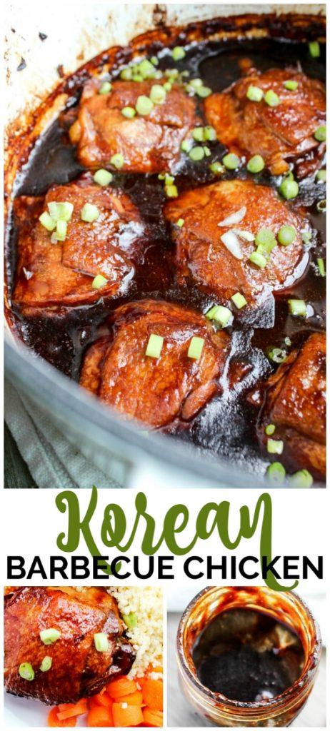 Korean Barbecue Chicken pinterest image