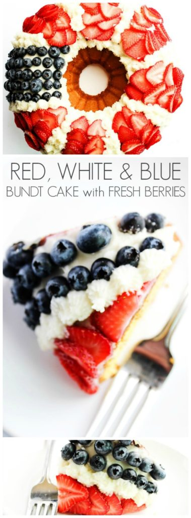 Red, White & Blue Bundt Cake LONG PIN