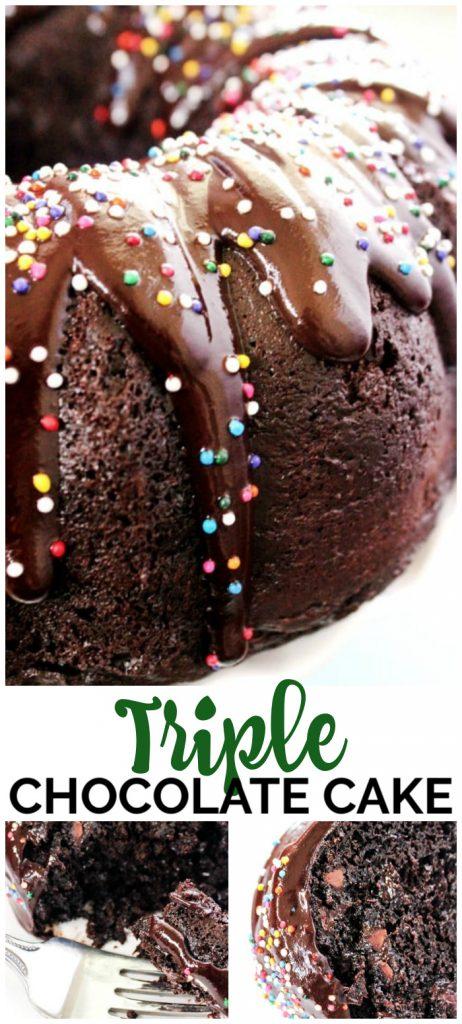 Triple Chocolate Cake pinterest image