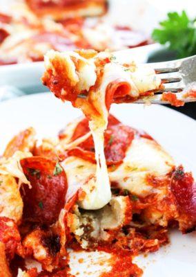 Cheesy Pizza Casserole
