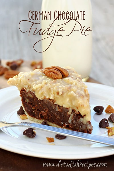 German chocolate fudge pie