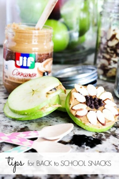 Tips for Back to School Snacks & Apple Sandwiches