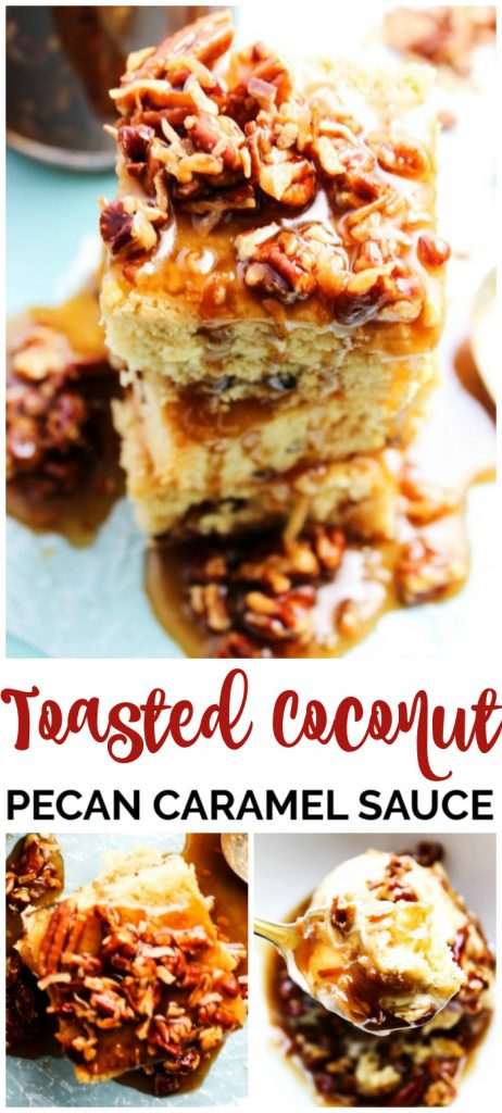 Toasted Coconut Pecan Caramel Sauce pinterest image