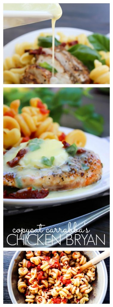 Chicken Bryan with pasta and lemon butter sauce