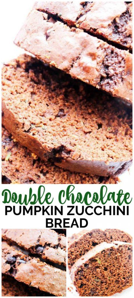 Double Chocolate Pumpkin Zucchini Bread pinterest image