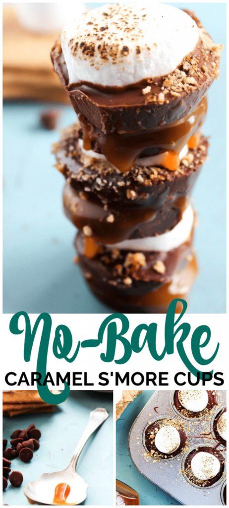 No-Bake Caramel S'more Cups pinterest image