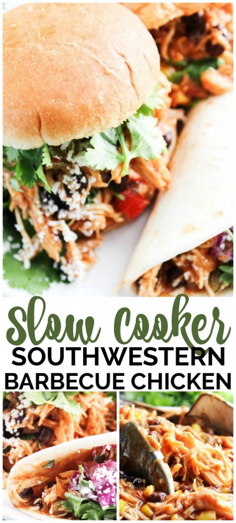 Slow Cooker Southwestern Barbecue Chicken pinterest image