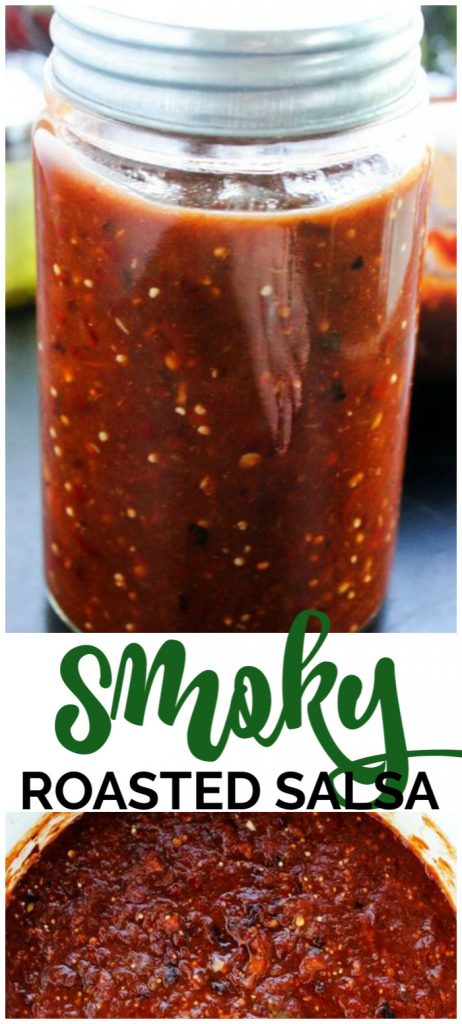 Smoky Roasted Salsa pinterest image