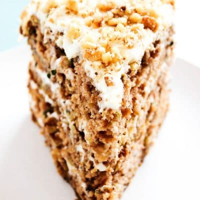 Banana Zucchini Cake with Cream Cheese Frosting