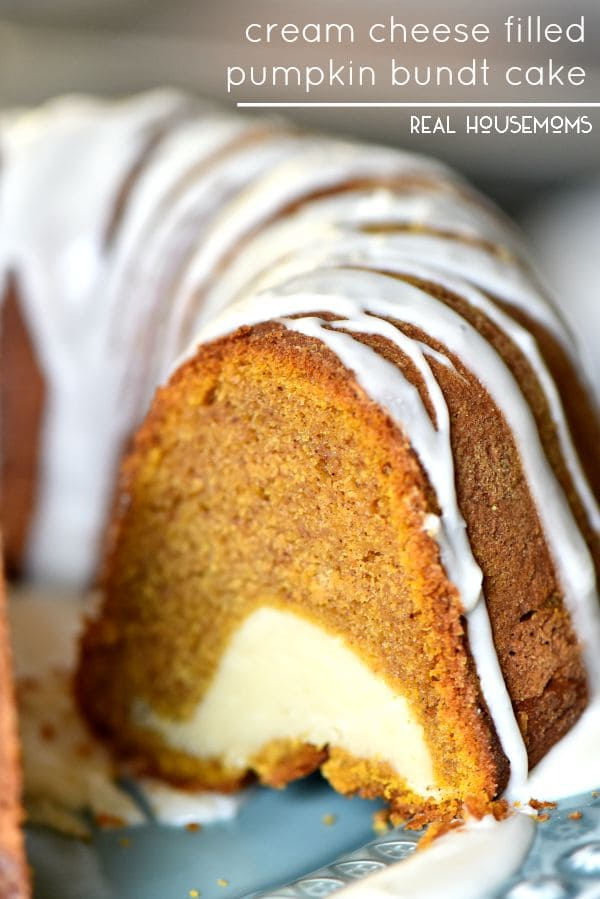 Cream Filled Pumpkin Bundt Cake