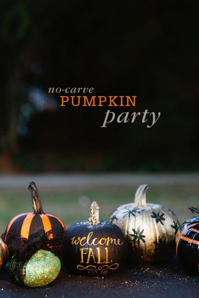 no-carve-pumpkin-party