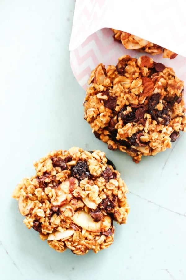 Pumpkin Oat Breakfast Cookies are a fall inspired, grab-and-go healthy cookie. It's like a mini-pumpkin pie, ideal for breakfast or an anytime of day snack. pumpkin-oat-breakfast-cookies-package