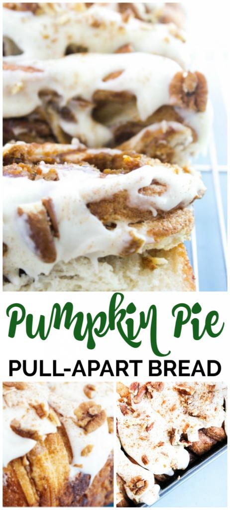 Pumpkin Pie Pull-Apart Bread pinterest image