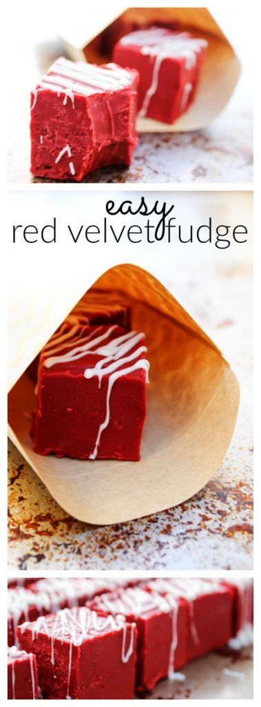 Easy Red Velvet Fudge in wrapping