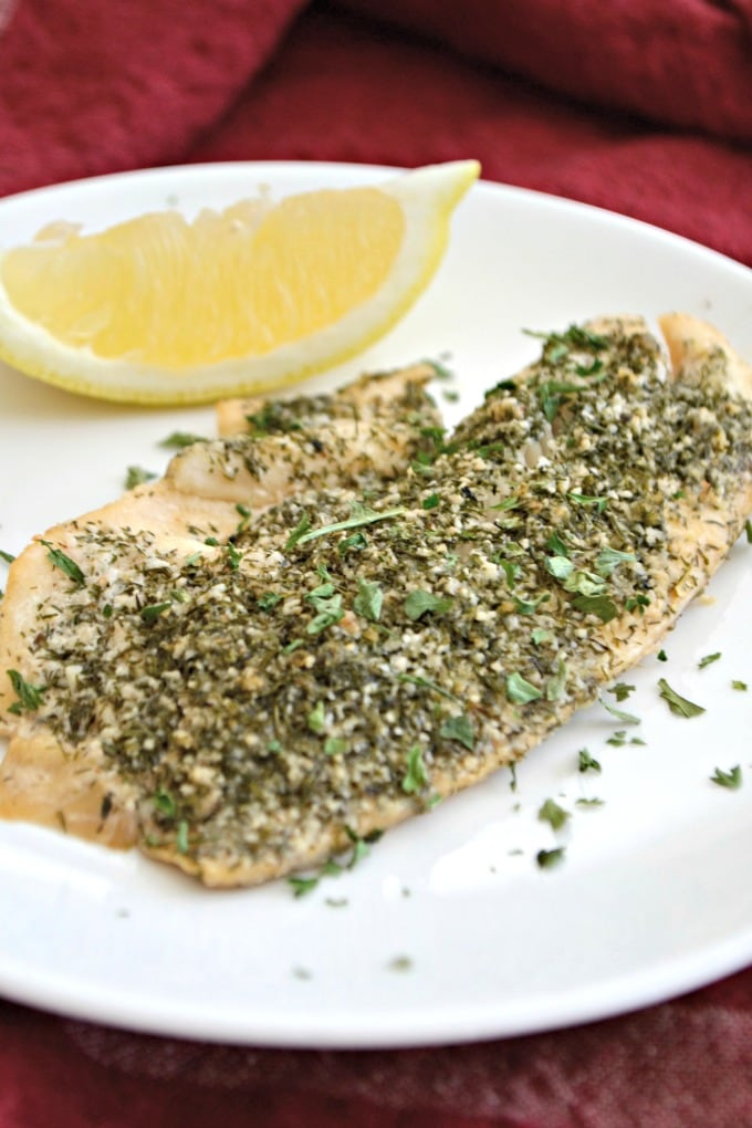 Steamed Lemon Herb Tilapia