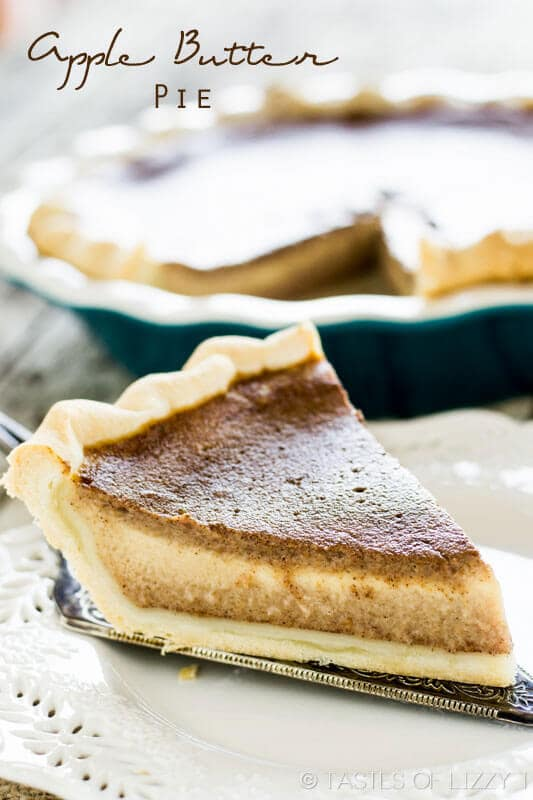 Apple Butter Pie crust with apple butter and cinnamon creamy filling