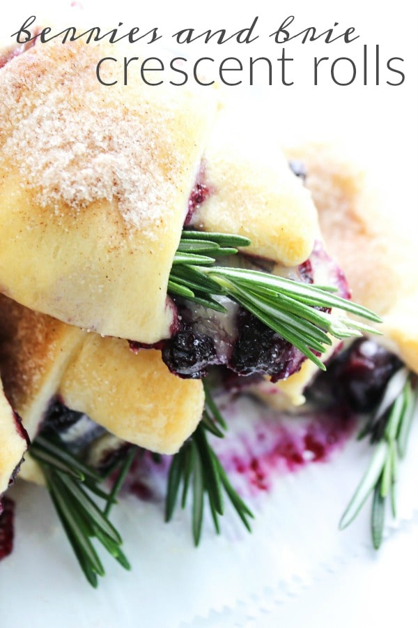 BERRIES AND BRIE CRESCENT ROLLS