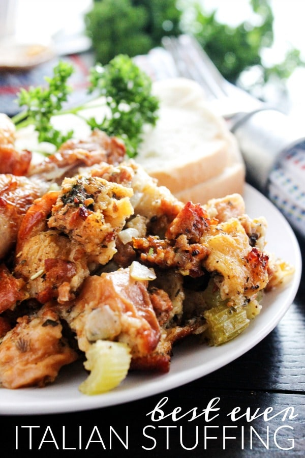 Best Ever Italian Stuffing